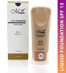MN Liquid Foundation Long Lasting Spf 15 Vitamin E Oil-Free