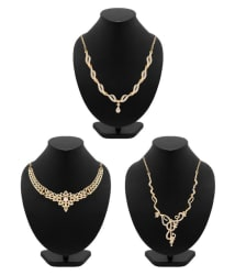 Voylla Alloy Golden Contemporary Contemporary/Fashion Gold Plated Necklace set Combo