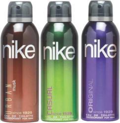 Nike Urban Musk Casual Original Body Spray - For Men (600 ml, Pack of 3)