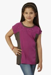 Oxolloxo Kids Pink Embellished Top