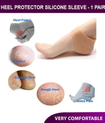 Pain Relief heel Repair Sleeve Socks Silicone Gel For Dry Hard Cracked Heels - One Pair