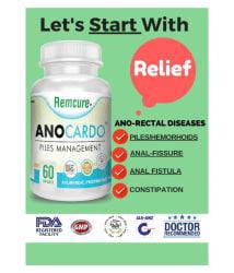 Anocardo Hemorrhoid/Piles & Fissure Relief Capsule 65 grm