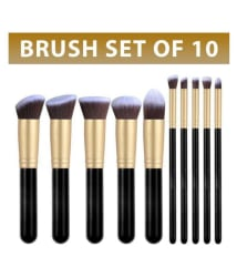 Forever 21 Synthetic Makeup Brush (Set of 10 Pcs)