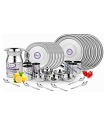 Airan Stainless Steel Dinner Set Thali set - 37 Pieces