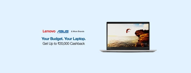 Laptops | Up to Rs 20k Cashback