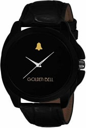 Golden Bell (Label) Analogue Display Black Dial and Leather Strap Men s Watch (MGB0048)