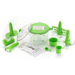 DarkPyro s 14 -Piece Kitchen box- Dough Maker(Atta Kneader)+6 in 1 Slicer Grater+Vegetable Cutter+Beater(Churner)+Peeler