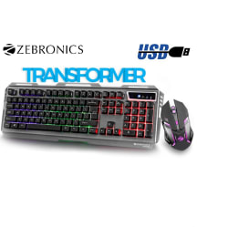 Zebronics Transformer - Premium Gaming Keyboard and Mouse Combo (Wired, Black)