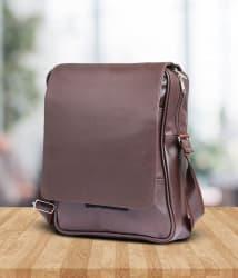Tuscany Brown Premium P.U Leather Laptop Bag Office Bag Sling Bag For Men & Women/Side Bag