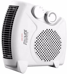 prolife Staywarm 2000W Upright / Flatbed Fan Heater (ISI APPROVED) with Two Heat Settings and Cool Blow, White Fan Room Heater