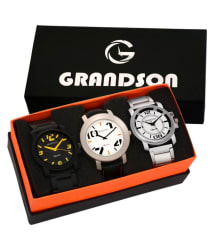 Grandson Attractive Set of 3 Watches Combo for boys