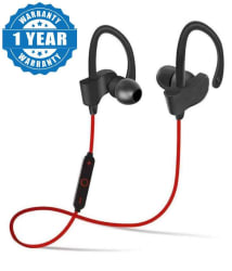 Captcha Qc-10 Wireless Handsfree Bluetooth Headphone/Earphone multi color (Red/Black/Blue, as per availability) For MI, Redmi, Xiaomi Samsung & More