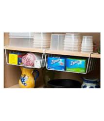 Set Of 2 Mild Steel Undershelf Kitchen Organiser Basket (Small, 8 - Inch)