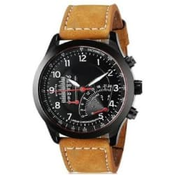 SCK by Vivah Mart Round Dial Brown Leather Strap Analog Watch For Men