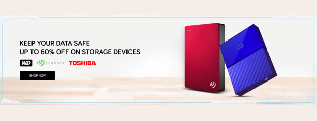 Hard Disks Upto 60% OFF | Buy 500 GB, 1TB , 2TB External Hard Disk Online at TATA CLiQ
