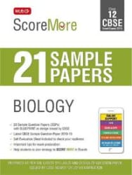 ScoreMore 21 Sample Papers CBSE Boards- Class 12 Biology (Paperback)