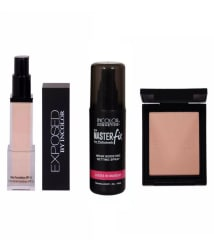 Incolor Exposed Foundation, Master Fixer & Compact Shade 01 (Pack of 3)