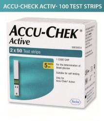 Accu-Chek ACTIVE 100 SUGAR TEST STRIPS ( 2 X 50 ) Expiry Jan-2020