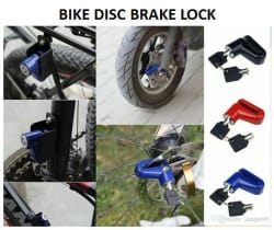 Anti-Theft Multicolor Disc Brake Security Lock for all Bikes(with Keys)-Assorted Colors