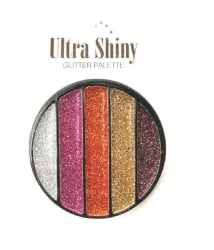 SFR Ultra Shinny Glitter Eyeshadow Palette 5 Shades