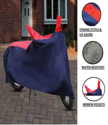 HMS Universal Scooty/ Bike Body Cover for - Water-Resistant, Dustproof, UV Guard - For all Bikes Upto 150cc