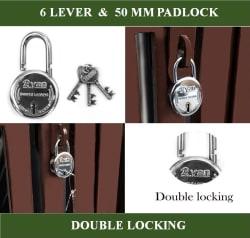 Koyo Ryan 6 Levers 50 mm Steel Padlock with 3 Keys