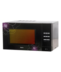 Haier 23 Ltr 2301CBSB Convection Microwave Oven Black With Floral Design