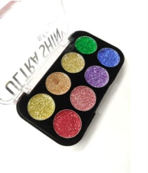 SFR Ultra Shiny Girl Glitter Eyeshadow Palette 8 Shades -12gm
