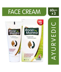 Roop Mantra Face Cream 60gm, Pack of 2 (Ayurvedic Cream for Men & Women, Helpful in Acne, Pimples, Boils, Skin Infections) - For All types of Skin