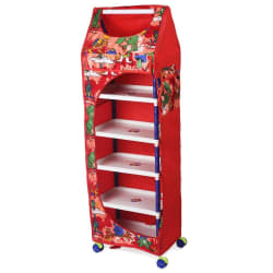 Totsy Red 6 Shelves Multipurpose Kids Toy Storage Box Collapsible Wardrobe/ Almirah/ Cupboard