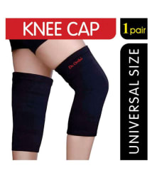 Dr Ortho Knee Cap, 1 Pair, Universal Size (Knee Cap for Knee Pain Relief, Cotton Knee Cap, Sports, Gym, Running, Stretchable Knee Cap for Men and Women)
