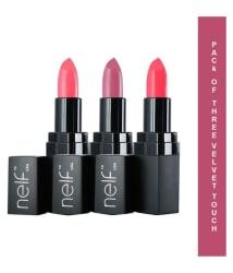 Nelf USA Velvet Touch Creme Lipstick SPF 15 Pack Of 3
