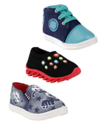 Air-Magic Combo of 3 Casual Shoes for Boys (Multicolour)