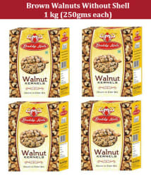 Daddy Nuts Brown Walnuts (Akhrot) 250 gm each - Pack of 4 -Without Shell 1 kg