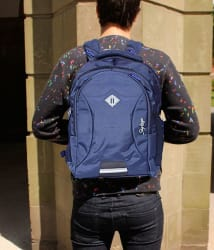 Skybags Navy Blue Polyester College Bags Backpacks- 24 Ltrs Tourist Bag