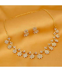 Sukkhi Stylish Gold Plated Artificial Necklace Jewellery Set