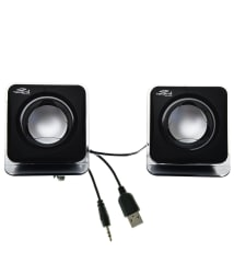 Terabyte E-02B 2.0 Multimedia Speakers for Laptop, PC, Mobiles & more- Black