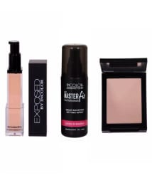 Incolor Exposed Foundation, Makeup Setting Spray & Compact Shade 03 (Pack of 3)