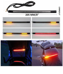 Bikers World Universal Flexible Strip Brake Turn Signal Indicators 8\