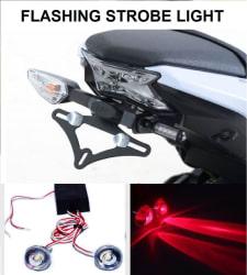 Bike LED Strobe Warning Light, Flashing (Red) - Set of 4