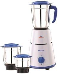 Bajaj Pluto 500 W Mixer Grinder White, Blue, 3 Jars