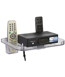 SSS White 2 Remote Holders Set Top Box Stand/DTH stand/Multipurpose Stand