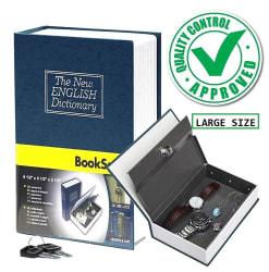Riddhi Siddhi Book Style Money Cash Locker Jewelry Home Safe Box (24 x 15.5 x 5.5 cm)