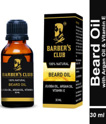 Barber s Club Beard Oil with Argan Oil & Vitamin E (100% Natural ) -30ml