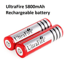 Ultrafire 3.7v 5800 mAh Rechargeable Battery 2