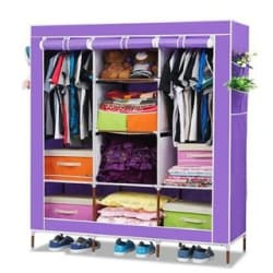 3 Door 88130 Fancy Portable Foldable Closet Wardrobe Cabinet Portable Multipurpose Storage Organiser DIY