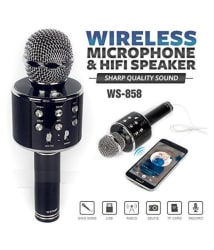 RUPPELL WS-858 Wireless Bluetooth Karaoke Microphone - Assorted Colours, Musical Instrument(Will be dispatch as per availability)