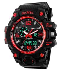 Skmei Black Rubber Analog-Digital Sports Watch