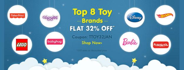 Top 8 toy brands