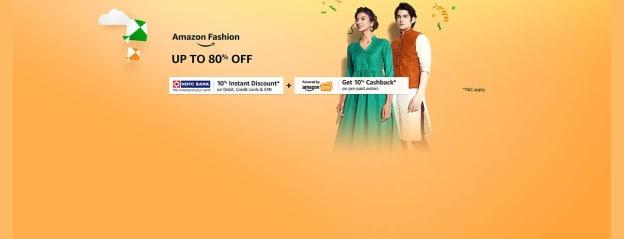 Amazon Fashion | Up to 80% off